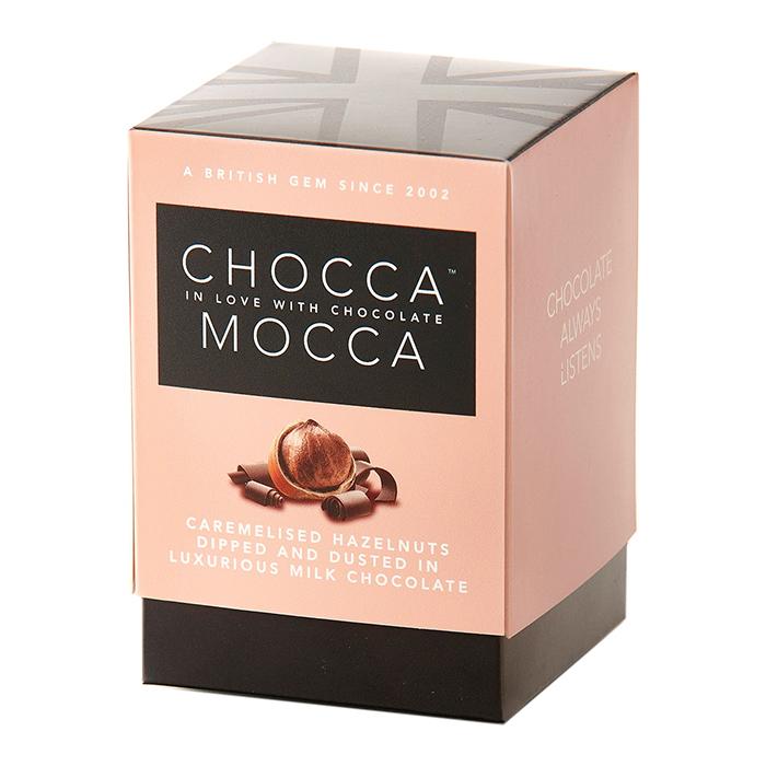 Chocca Mocca Hazelnuts in Dusted Milk Chocolate 100g