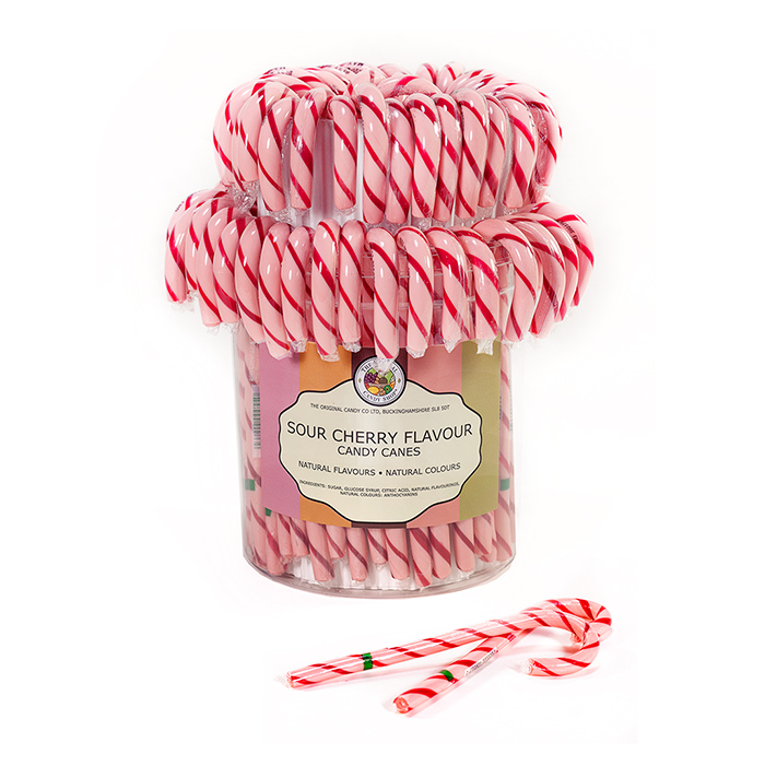 Natural Candy Co,. Sour Cherry Candy Canes
