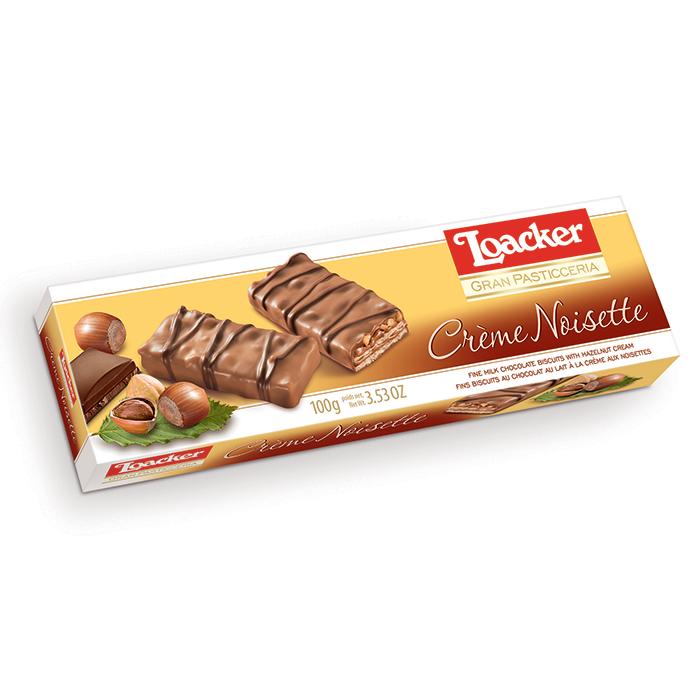 Loacker Patisserie Creme Noisette wafers