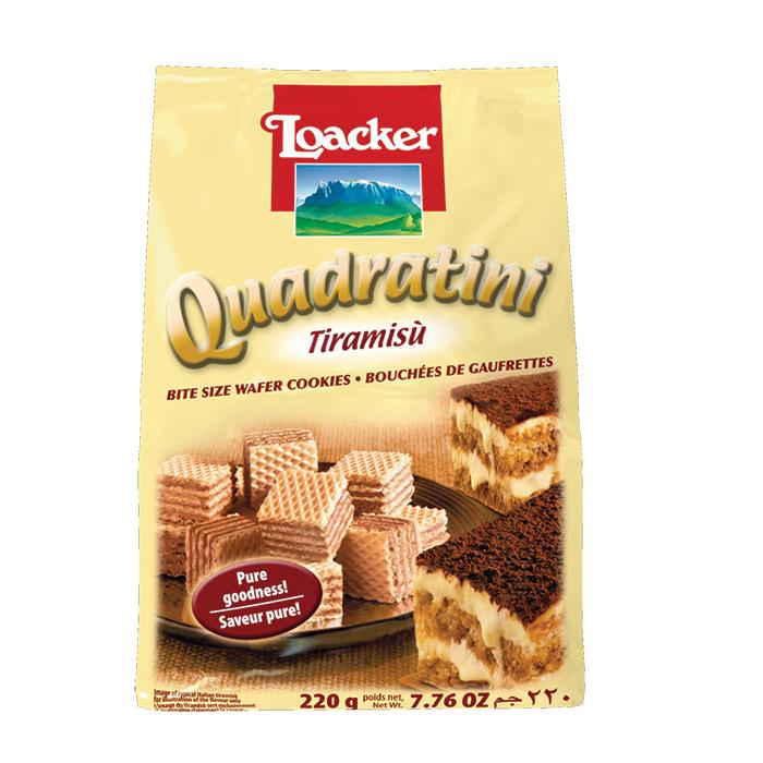 Loacker Quadratini Tiramisu wafers