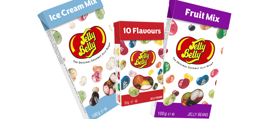 Jelly Belly Flip Top Boxes