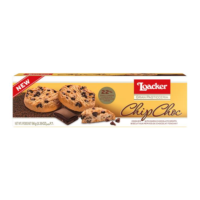 Loacker Chip Choc Biscuits 120g Box
