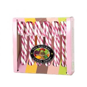 Natural Candy Company Strawberry candy canes 170g